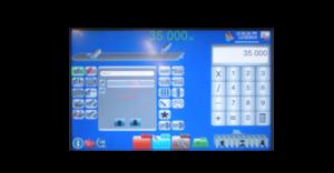 closeup of touchscreen