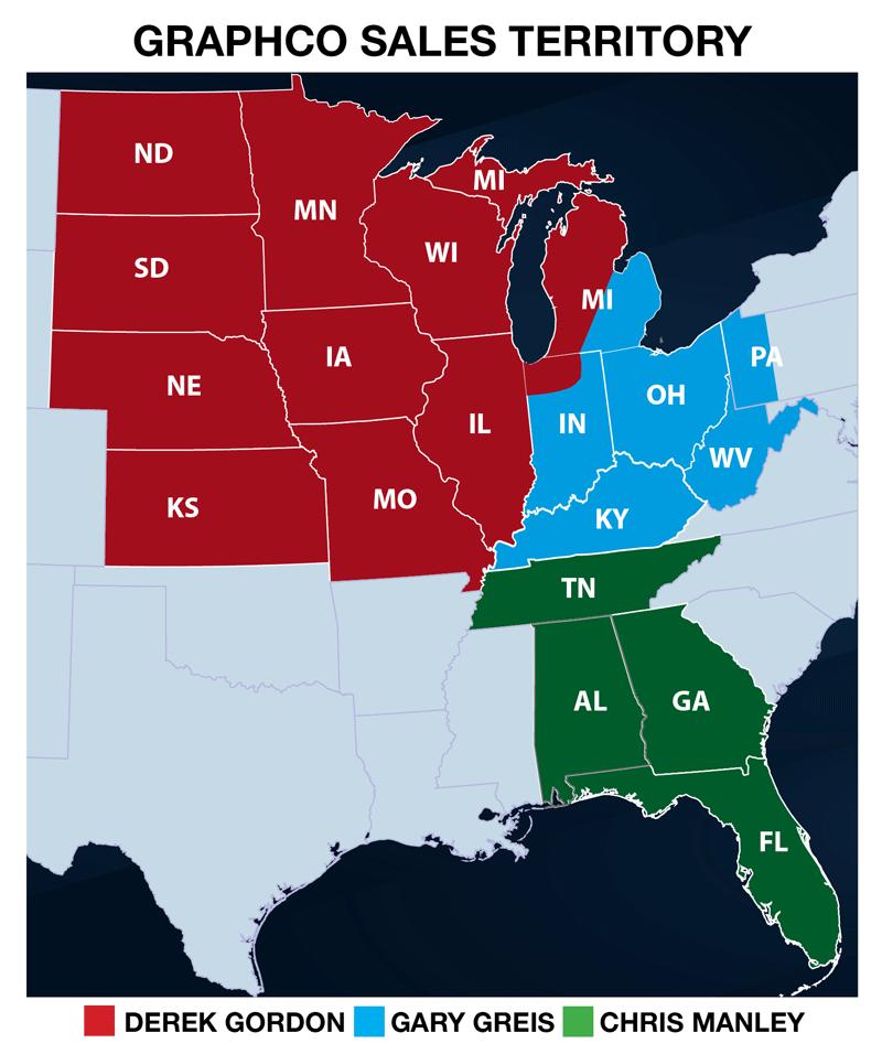 Graphco Sales Territory Map