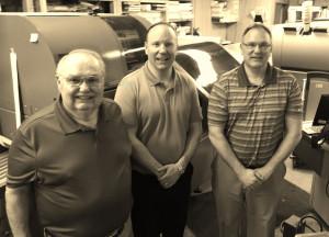 From left to right: Dave Moeller, Sr., Chuck Moeller, & Dave Moeller, Jr.