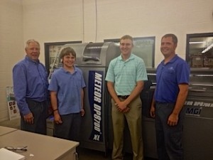From L to R: Allan Kremer, owner; Tyler Moeller, operator; Mitch Kremer, owner; Jared Hess, lead operator